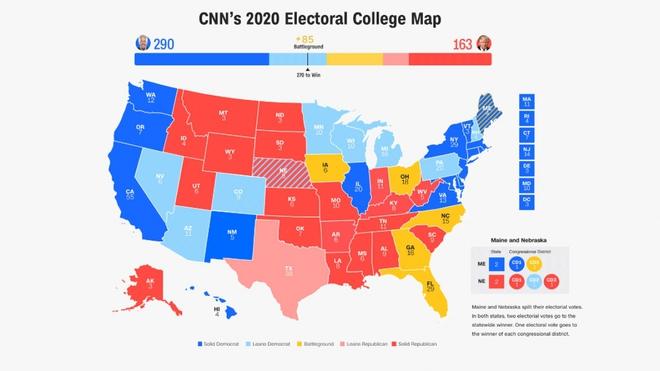 Khảo sát đại cử tri: Ông Joe Biden lần đầu vượt ngưỡng 270 phiếu - Ảnh 1.