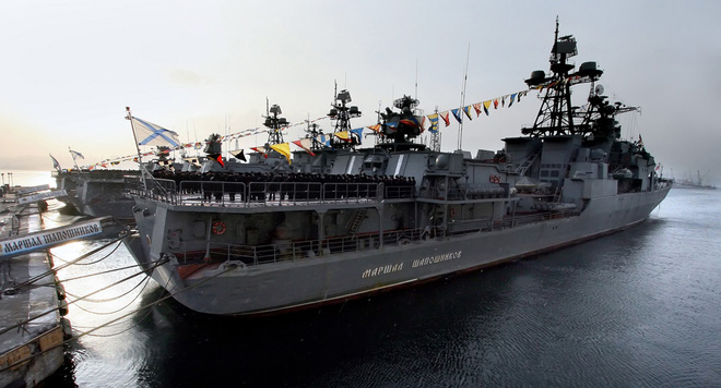Khu trục hạm Đô đốc Shaposhnikov lừng lẫy của Nga còn cách tàu Arleigh Burke Mỹ bao xa? - Ảnh 5.