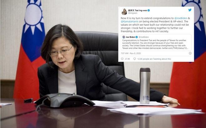 Ẩn ý lời chúc của bà Thái Anh Văn cho ông Biden: Đài Loan ngóng Mỹ lặp lại cuộc gọi lịch sử?
