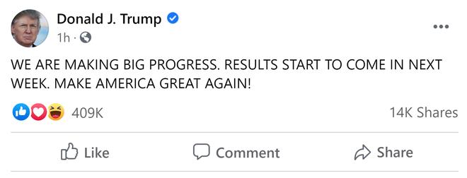 Ông Trump tiếp tục báo tin vui về cuộc chiến pháp lý: Từ tuần sau sẽ bắt đầu có kết quả! - Ảnh 1.