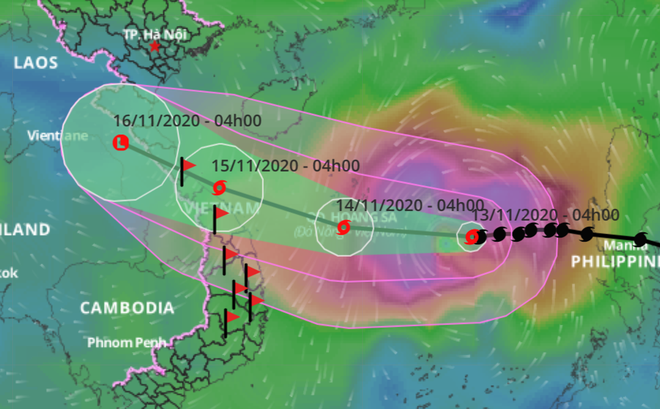Tin mới nhất về bão số 13: Giật cấp 15, rất phức tạp, đổ bộ vào miền Trung ngày 15/11