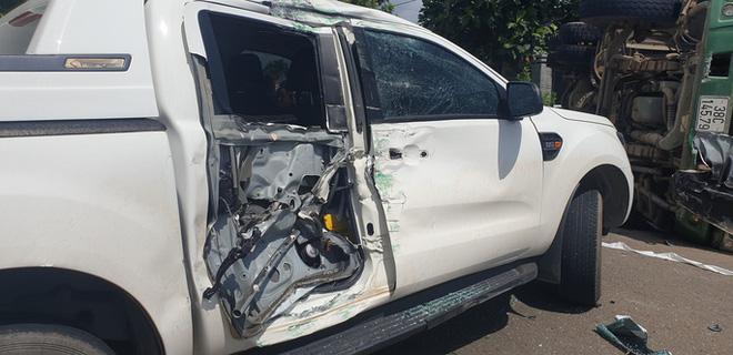 Tai nạn liên hoàn giữa xế hộp, xe ben và bán tải ở Bà Rịa - Vũng Tàu  - Ảnh 2.