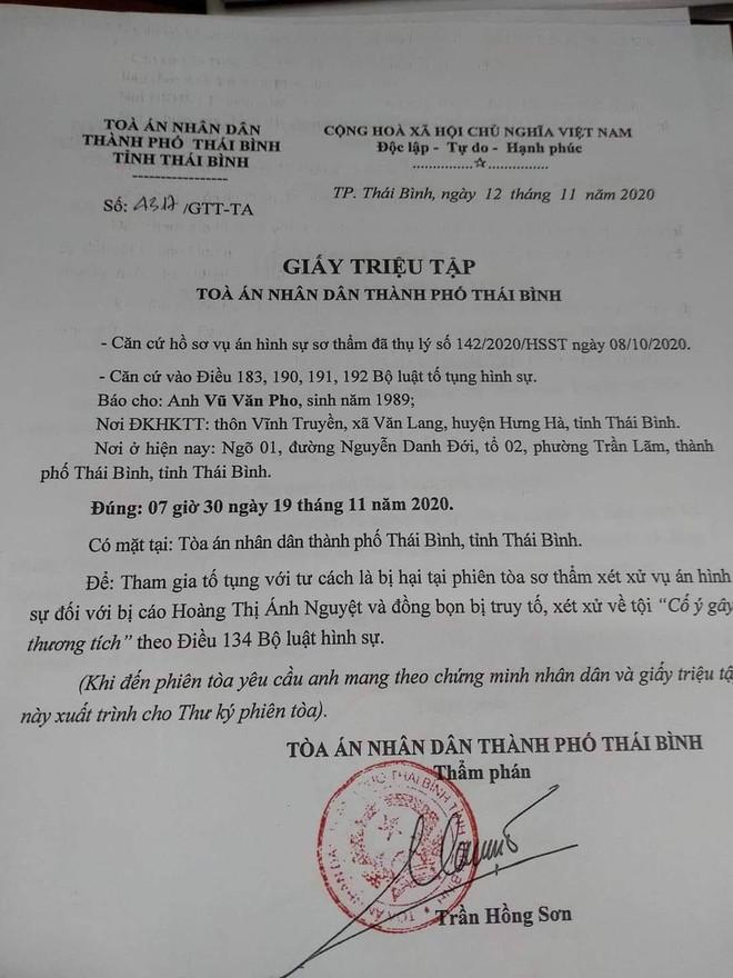 Thái Bình: Sắp xét xử vợ nguyên Chủ tịch UBND phường đánh nhân viên cơ quan chồng - Ảnh 1.