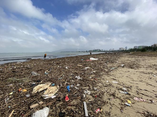 [Ảnh] Hơn 500 tấn rác dạt vào bãi biển Đà Nẵng - Ảnh 7.
