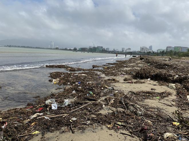 [Ảnh] Hơn 500 tấn rác dạt vào bãi biển Đà Nẵng - Ảnh 4.