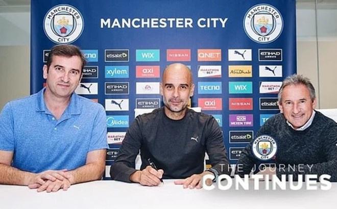 Pep Guardiola chính thức gia hạn hợp đồng với Man City đến năm 2023
