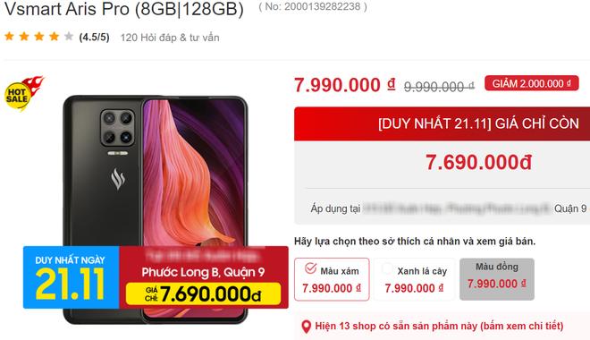 Dàn điện thoại Vsmart giảm giá tới bến, chiếc Aris Pro rẻ hơn tới 2,3 triệu đồng - Ảnh 1.