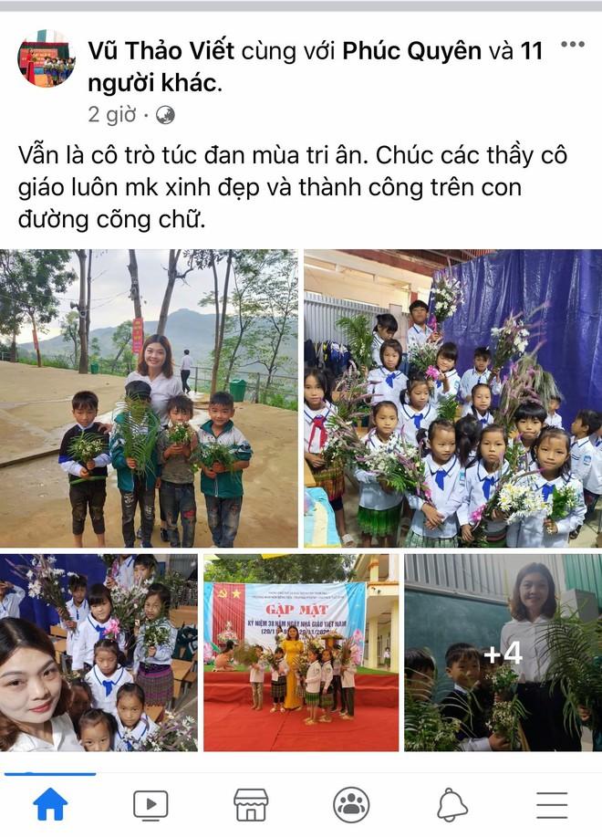 Món quà đẹp nhất của học sinh ngày 20/11 khiến cô giáo vùng cao vừa nhận đã rơi nước mắt - Ảnh 1.