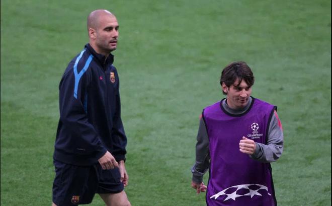 HLV Guardiola khiến CĐV Man City sôi tiết khi nói về Messi