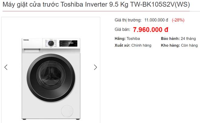 Máy giặt lồng ngang 9-9,5kg đời 2020 bán giá rẻ tới 6 triệu nhân Black Friday - Ảnh 2.