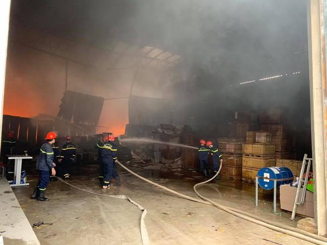 Cháy dữ dội ở kho sơn và hóa chất, khói lửa bốc cao hàng chục mét - Ảnh 8.