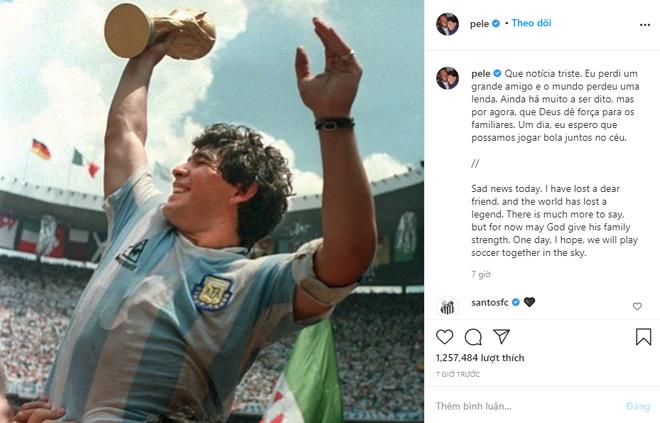 Messi, Ronaldo đau buồn gửi lời chia tay huyền thoại Maradona - Ảnh 3.