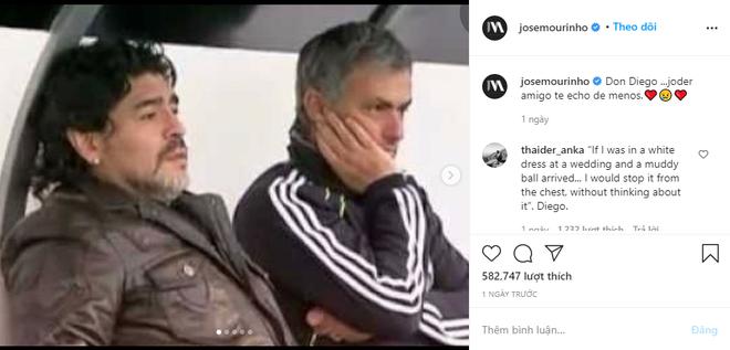 Mourinho tri ân Maradona, tiết lộ câu thần chú giải tỏa mọi lo âu từ Cậu bé vàng - Ảnh 1.