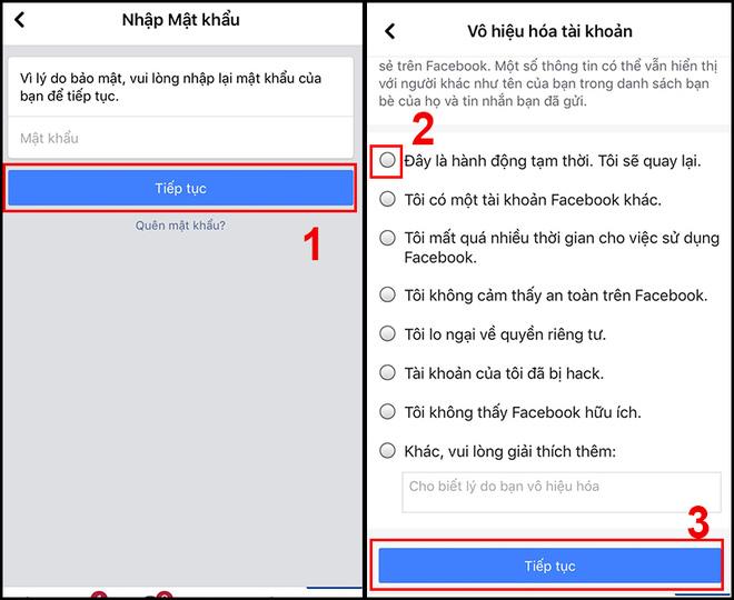 Hướng dẫn bạn khóa Facebook tạm thời bằng điện thoại - Ảnh 3.