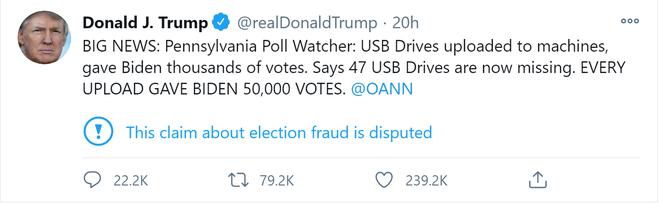 Nhân chứng nói có 47 USB mất tích, 120.000 phiếu khả nghi ở Pennsylvania: Phe ông Trump còn hy vọng? - Ảnh 3.