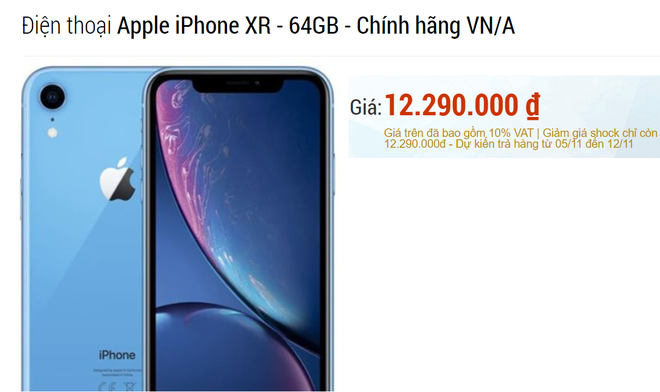 Vừa tái xuất sau khi cháy hàng, iPhone XR đã bay 4 triệu đồng, rẻ chưa từng có - Ảnh 1.
