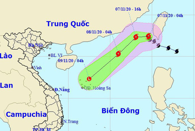 Bão Atsani vào Biển Đông giật cấp 11, trở thành cơn bão số 11 - Ảnh 1.