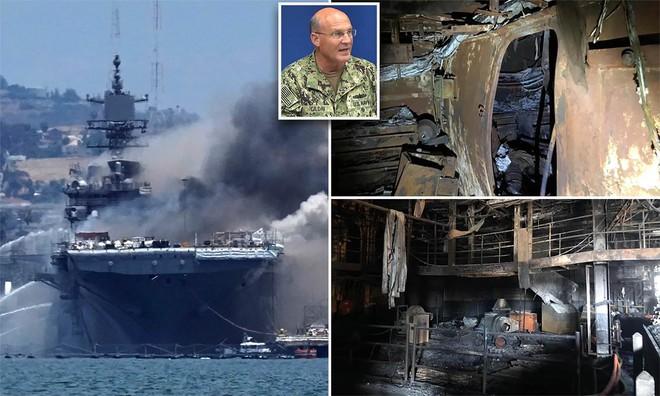 Tàu sân bay tiêm kích F-35 Mỹ cháy nổ khủng khiếp, Hải quân Mỹ ra quyết định nóng! - Ảnh 3.