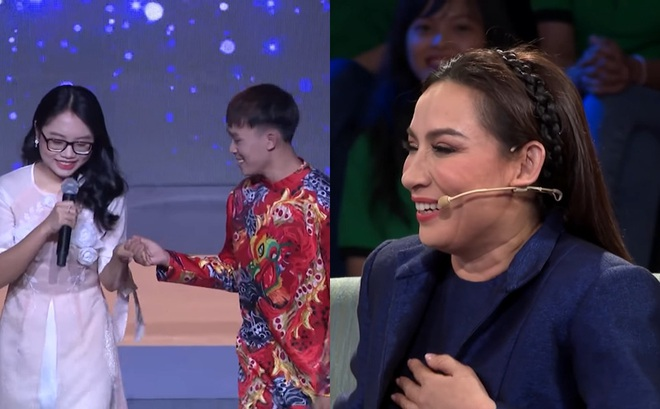 """Phi Nhung xúi con trai nuôi nắm tay Phương Mỹ Chi: """"Đàn ông lên con"""""""