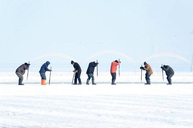 24h qua ảnh: Mọi người tận hưởng mưa tuyết đầu mùa ở Đức - Ảnh 2.