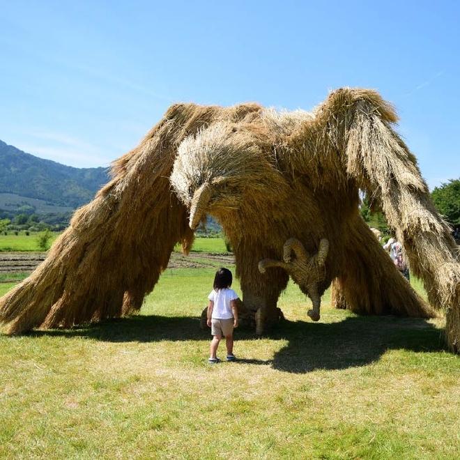 Kinh ngạc loạt quái vật rơm khổng lồ trên cánh đồng Nhật Bản - Ảnh 5.