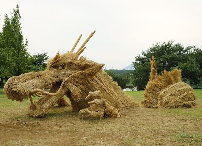 Kinh ngạc loạt quái vật rơm khổng lồ trên cánh đồng Nhật Bản - Ảnh 6.