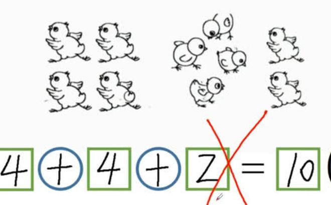 Bài toán '4+4+2=10' bị giáo viên gạch sai, phụ huynh nghe giải thích xong liền 'nóng máu' vì... hoang đường