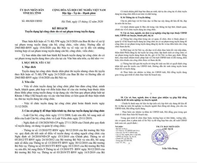 Hơn 300 công chức, viên chức ở Hà Tĩnh phải thi tuyển lại - Ảnh 1.