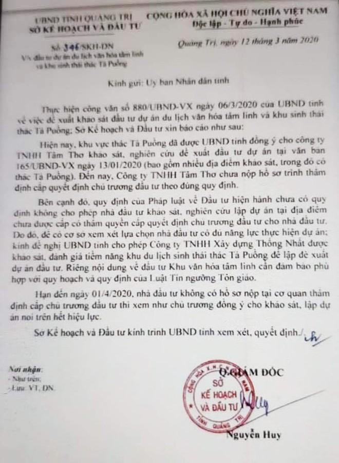 Chủ đại dự án tâm linh bí hiểm được khảo sát thêm một khu sinh thái ở Quảng Trị - Ảnh 1.