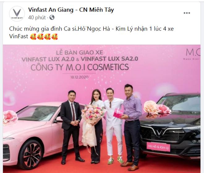 Hồ Ngọc Hà mua 1 lúc 4 xe Vinfast và dàn xế sang siêu khủng trị giá hơn 60 tỷ qua tay - Ảnh 1.
