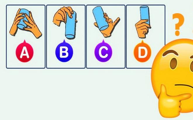 Bạn có tố chất lãnh đạo không? Bạn sẽ cầm cốc theo kiểu tay nào?
