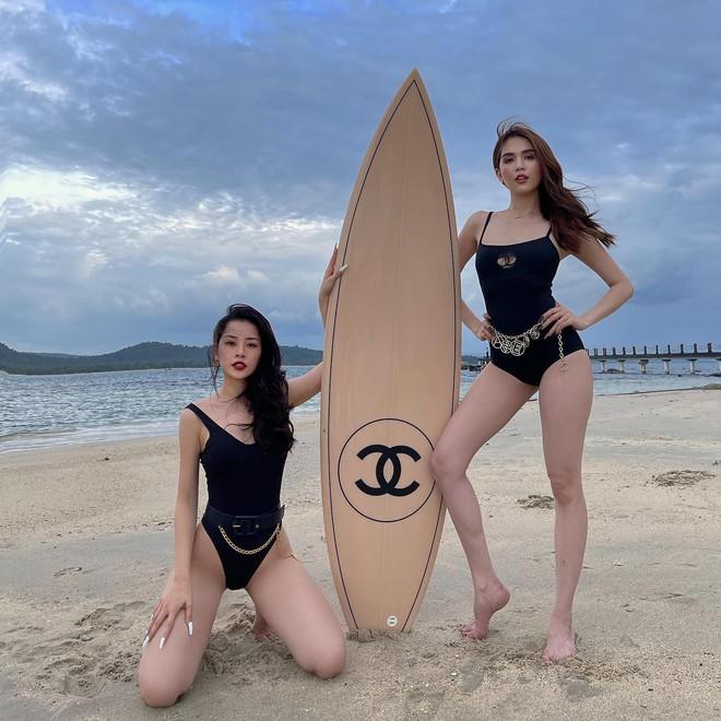 Ngọc Trinh và Chi Pu cùng khoe vóc dáng: Ai nóng bỏng hơn? - Ảnh 4.