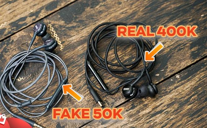 So tai nghe Samsung AKG 'trứ danh' phiên bản hàng real và fake mới hiểu sao nhiều người bị lừa đến vậy