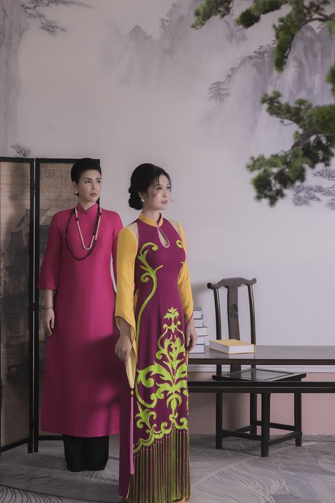 Thúy Hà, Quỳnh Hoa bất ngờ làm mẫu ảnh áo dài - Ảnh 2.