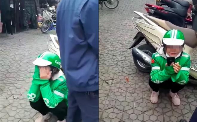 Nữ tài xế Grab bật khóc nức nở vì bị khách lừa lấy mất điện thoại ở giữa phố Hà Nội