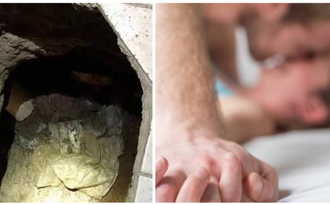 Chồng về sớm và phát hiện vợ ngoại tình, đường hầm trong phòng ngủ còn dẫn đến điều khó tin hơn