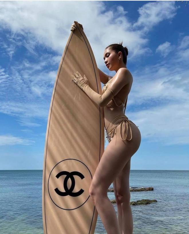 Ngọc Trinh diện bikini nóng bỏng, dân mạng lập tức so sánh với Chi Pu - Ảnh 5.