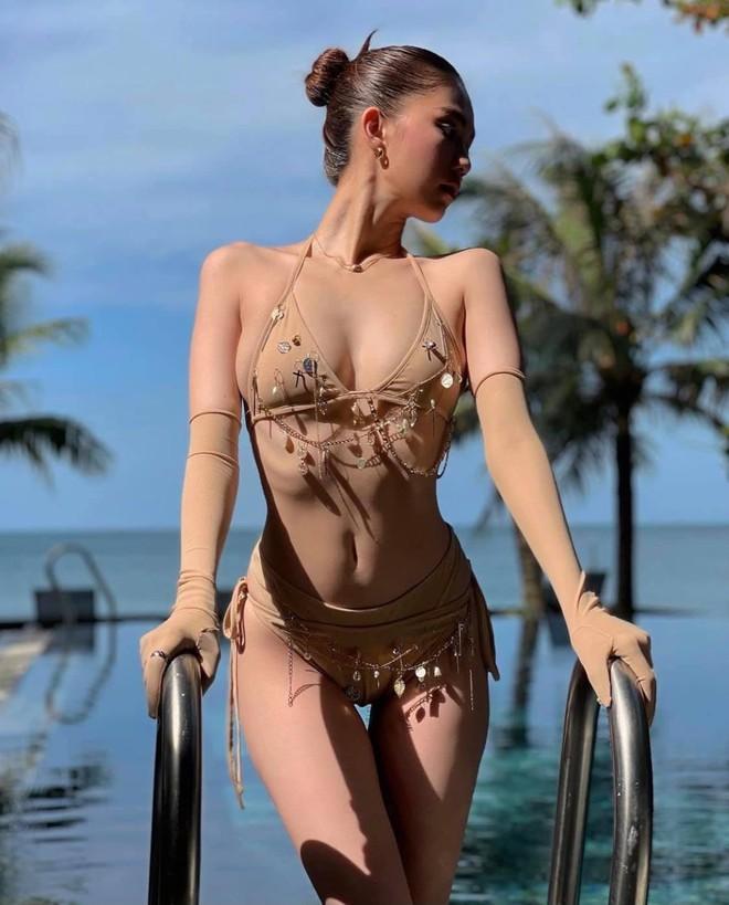 Ngọc Trinh diện bikini nóng bỏng, dân mạng lập tức so sánh với Chi Pu - Ảnh 4.