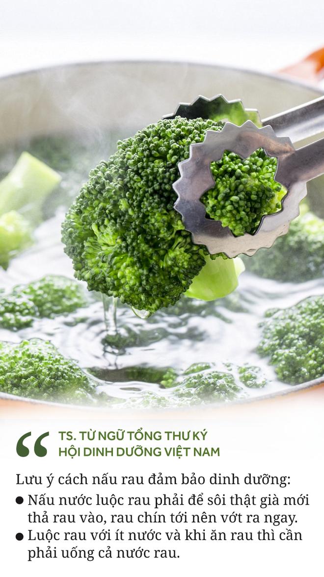 [Ảnh sức khỏe] Bí quyết nấu rau để ăn được trọn vẹn các chất dinh dưỡng - Ảnh 1.