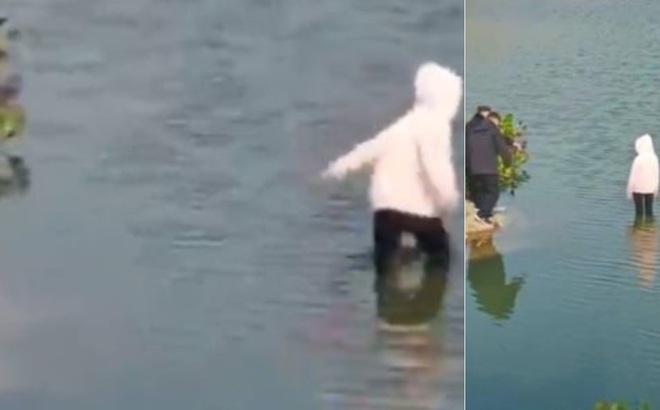 Thiếu nữ lội xuống sông tự tử, 5 cảnh sát có mặt và cảnh tượng khó tin xuất hiện khiến dân mạng tranh cãi