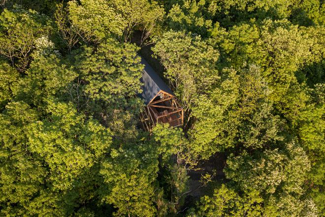 Độc đáo ngôi nhà vô cùng đơn giản, với 12 cái chân, tầm nhìn ra sông - Ảnh 1.