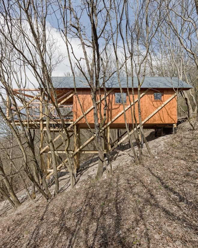 Độc đáo ngôi nhà vô cùng đơn giản, với 12 cái chân, tầm nhìn ra sông - Ảnh 10.