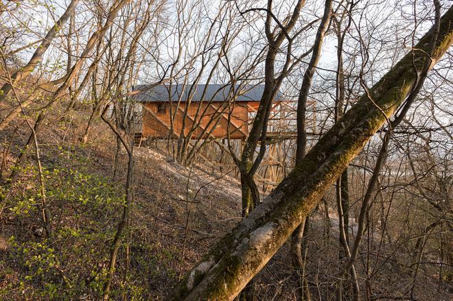 Độc đáo ngôi nhà vô cùng đơn giản, với 12 cái chân, tầm nhìn ra sông - Ảnh 2.