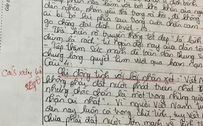 Bài thi với màn hỏi - đáp độc nhất vô nhị của nữ sinh Hà Nội: Dòng chữ gạch chân đỏ hút nghìn like