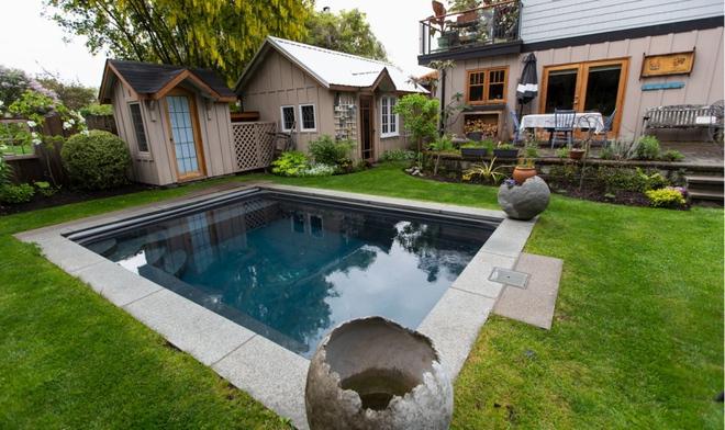 Ngôi nhà yên bình bên khoảng sân vườn xanh tươi với điểm nhấn đặc biệt này có thể hạ gục mọi ánh nhìn - Ảnh 4.