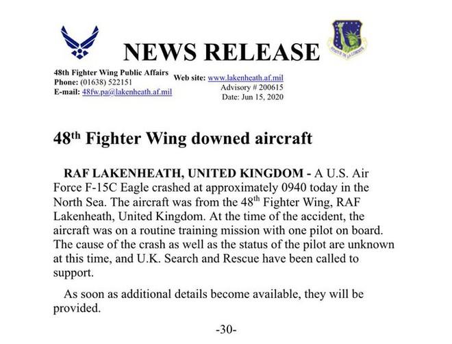 NÓNG: KQ Mỹ, Indonesia đồng loạt mất 2 máy bay quân sự, có cả tiêm kích F-15 hiện đại - Tìm cứu khẩn cấp - Ảnh 2.
