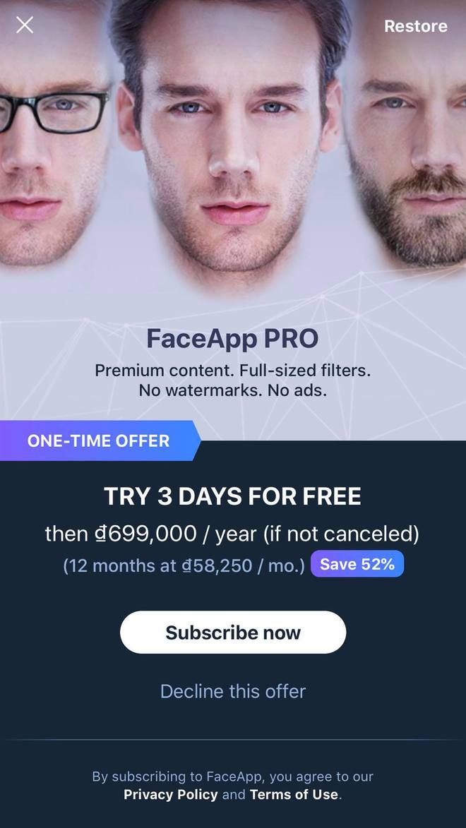 """Giới trẻ thích thú khoe ảnh """"biến đổi giới tính"""" trên app với giá 699.000 đồng/năm - Ảnh 1."""