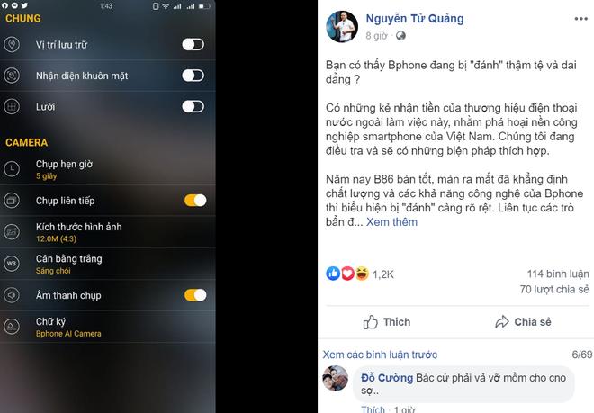 CEO Bkav Nguyễn Tử Quảng: Tin Bphone lén lút chụp ảnh người dùng là vu khống - Ảnh 1.