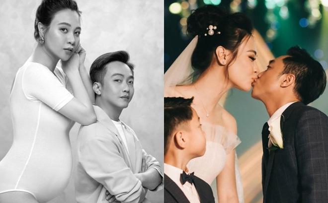 Không còn giữ bí mật nữa, Đàm Thu Trang công khai bụng bầu bên Cường Đô la