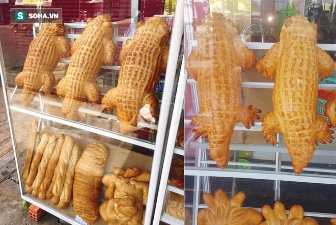 """Bánh mì cá sấu khổng lồ gây """"bão"""", ngày bán trăm chiếc  - Ảnh 1."""